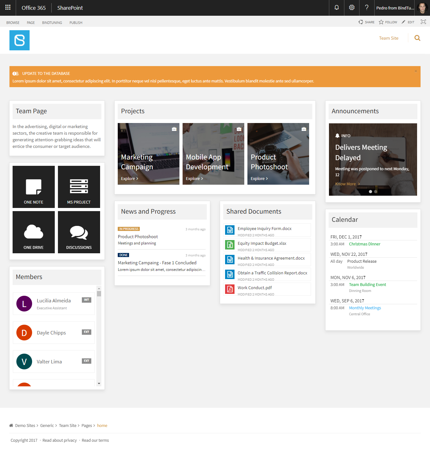 projectworkspace template