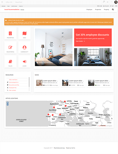 localaccommodation template